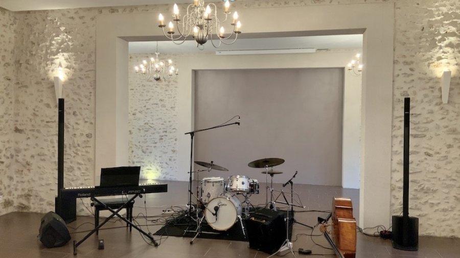 Groupe jazz entreprise : Vue de l'installation du groupe